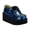 CREEPER-208 Blue Cheetah Glitter